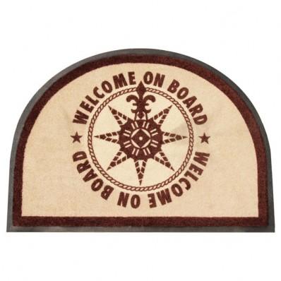 Wycieraczka dywanowa ROUND BROWN 1szt. (odporna na UV)