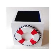 Pudełko biało-granatowe Koło