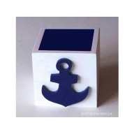 Pudełko biało-granatowe Kotwica