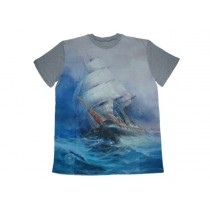 Koszulka męska Statek Grey