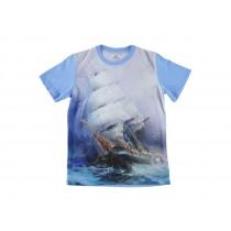 Koszulka dziecięca Statek Blue
