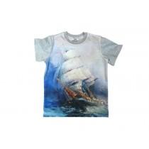 Koszulka dziecięca Statek Grey