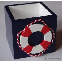 Pudełko granatowe Koło