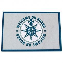 Wycieraczka filcowa niebieska Welcome-On-Board 1szt.