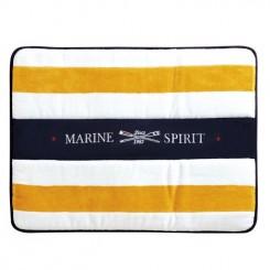 SPIRIT dywanik łazienkowy, żółte paski
