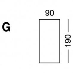 Prześcieradło elastyczne MB MODEL G - białe