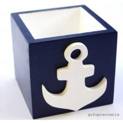 Pudełko granatowe Kotwica