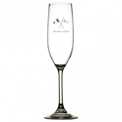 WELCOME ON BOARD kieliszki do szampana Non-slip 6szt.