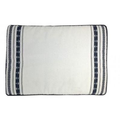 SANTORINI dywanik łazienkowy 45x60 Kotwice -biały