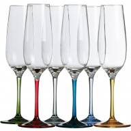 PARTY COLOR kieliszki do szampana 6szt.