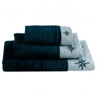 FREESTYLE ręczniki WindRose 3 szt. granatowe