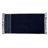 SANTORINI ręcznik plażowy granatowy
