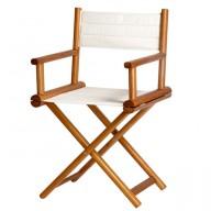 Składane krzesło reżyserskie OLEFIN ecru