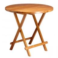 Składany stół TEAK okrągły 80cm