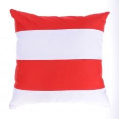 Poduszka w pasy DWA KOLORY biało-czerwona