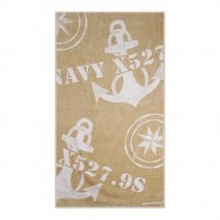 FREESTYLE ręcznik plażowy z poduszką Kotwice Beż