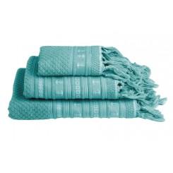 SANTORINI ręczniki 3szt. Kotwice -morskie