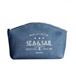 Kosmetyczka marynistyczna SEA&SAIL niebieska