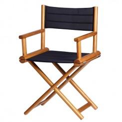 Składane krzesło reżyserskie OLEFIN granatowe
