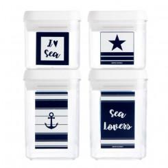 Komplet pojemników Sea Lovers 4szt.