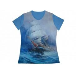 Koszulka damska Statek Blue