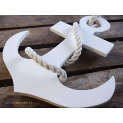 Kotwica dekoracyjna biała