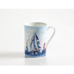 Kubek marynistyczny Sailing, porcelana 400ml