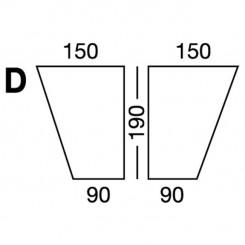 Prześcieradło elastyczne MB MODEL D - białe