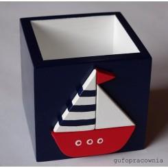 Pudełko granatowe Łódka