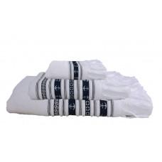 SANTORINI ręczniki 3szt. Kotwice -białe