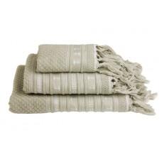 SANTORINI ręczniki 3szt. Kotwice -ecru